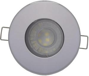 Chrom eingebaute decken LED Lampe 7,5W Warmweiß IP44 230V