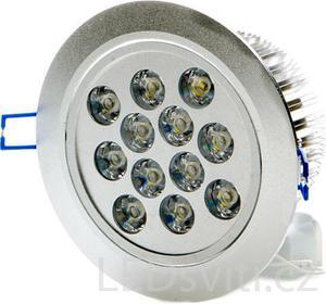LED Spotlicht 12x 1W Kaltweiß