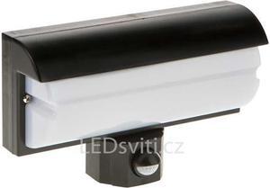 Wand LED Lampe 9,2W mit PIR Sensor schwarz