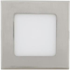 Chrom eingebauter LED Panel 120 x 120mm 6W Warmweiß