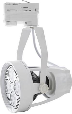 Weisses 3-Phasen schiene lampe E27 12W Warmweiß