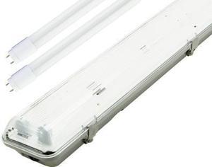 LED staubdicht Körper + 2x 120cm Röhre