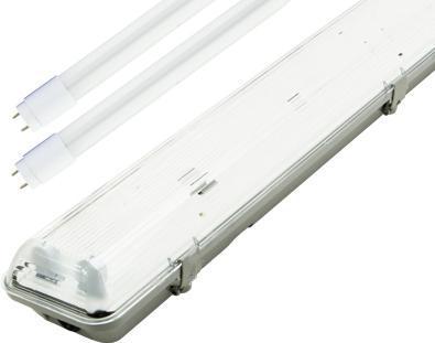 LED staubdicht Körper + 2x 60cm Röhre mit Notbeleuchtungm Modul 2hod.