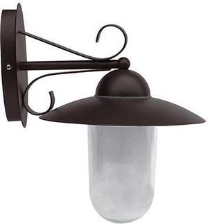 Schwarze LED retro Lampe Wand 10W Tageslicht