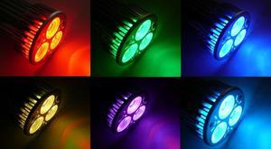 RGB LED Lampe 12W 60° 12VDC