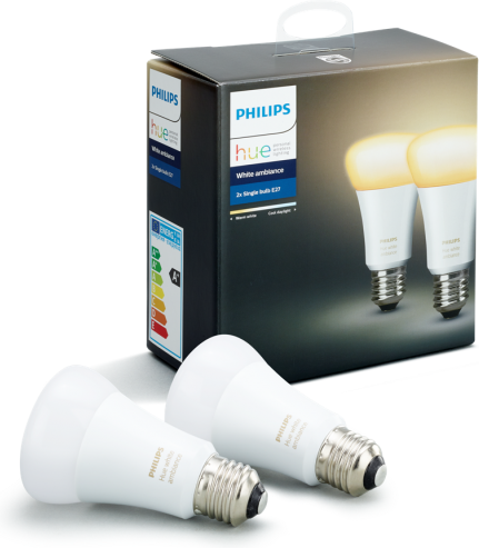 Philips HUE 2x LED Lampe E27 9,5W 806lm 2200 6500K