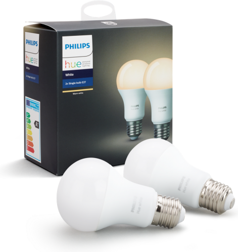Philips HUE 2x LED Lampe E27 9,5W 806lm 2700K
