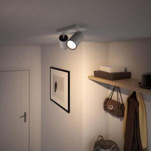 Philips LED Spotlicht GU10 2x10W Tageslicht silber Kosipo 50592/48/PN