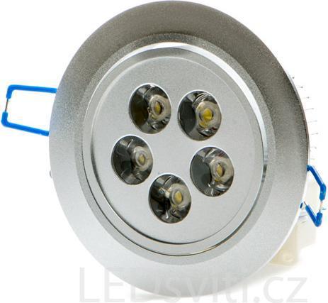 LED Spotlicht 5x 1W Tageslicht