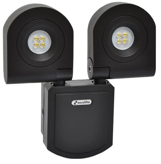 Schwarzer LED Strahler 2x10W Kaltweiß
