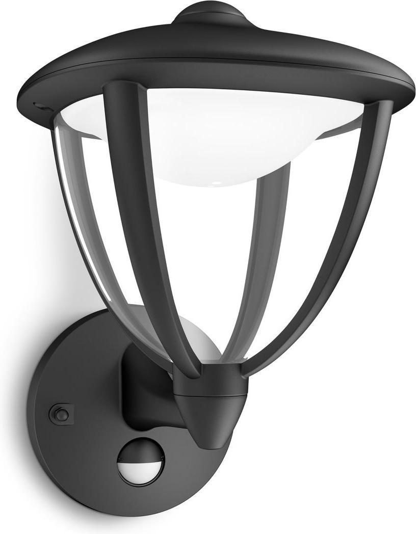 Philips LED Robin Lampe außen Wand schwarz 4,5W 154793016