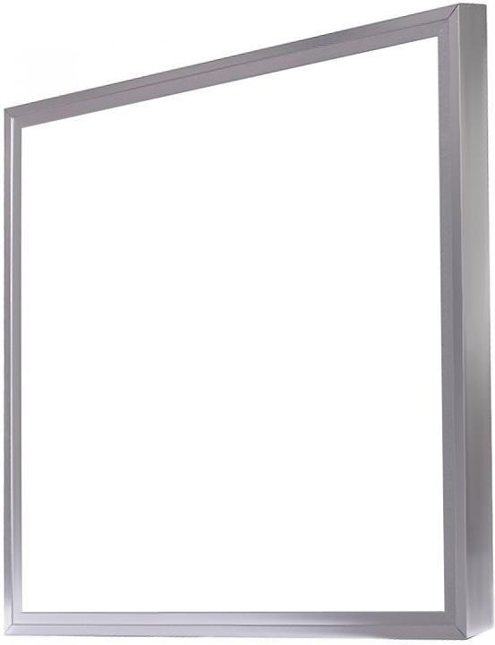 Dimmbarer Silbern LED Panel mit Rahmen 600 x 600mm 48W Kaltweiß