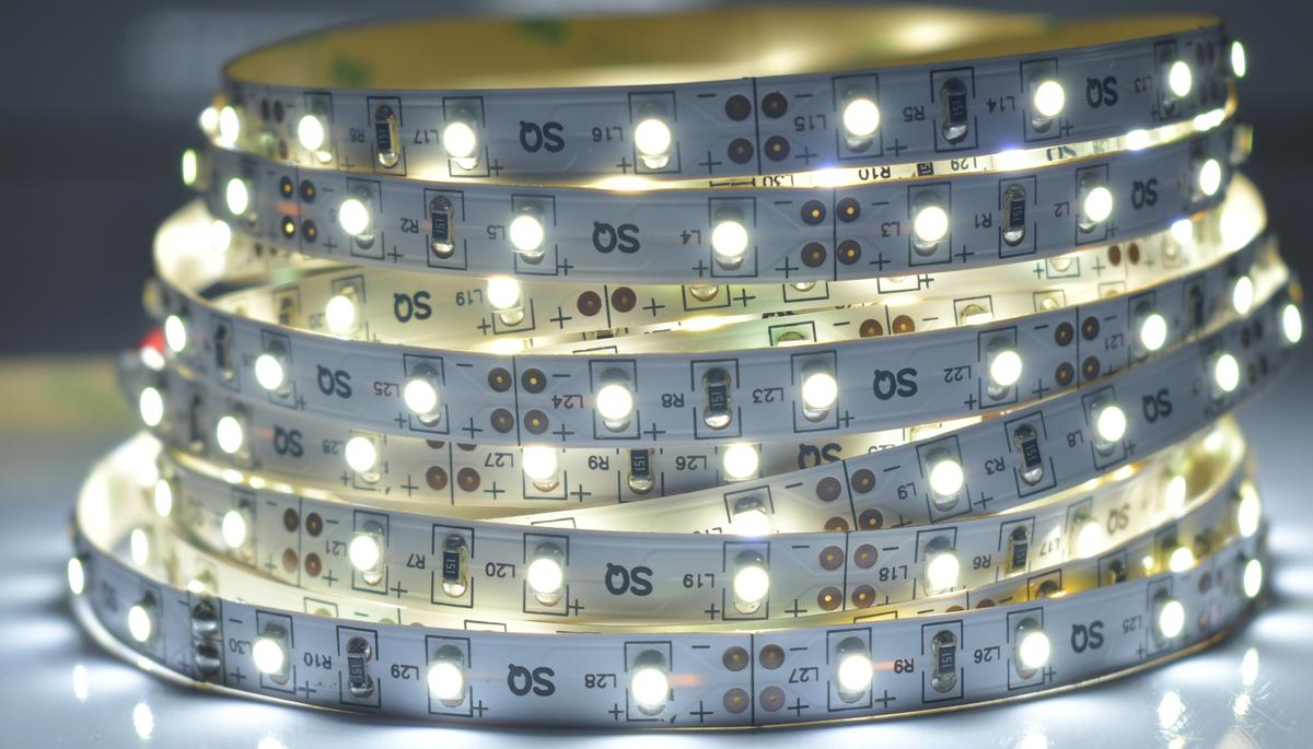 LED Streifen 4,8W/m ohne Schutz Kaltweiß