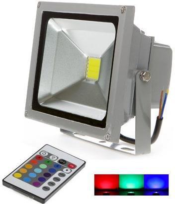 Silbern RGB LED Strahler 20W mit IR entfernten bedienungem