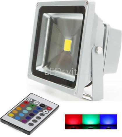 Silbern RGB LED Strahler 30W mit IR entfernten bedienungem