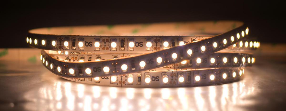 LED Streifen 14,4W/m ohne Schutz Warmweiß