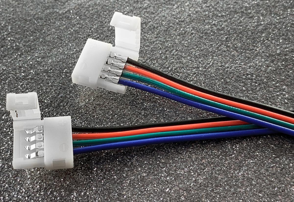 RGB konektor + Kabel + konektor LED Streifen