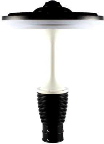Schwarz weiss aufsetzbares außen Lampe 60W Warmweiß