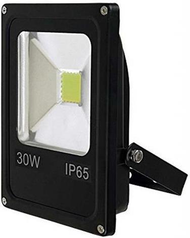 Schwarzer LED Strahler 30W Tageslicht 12V