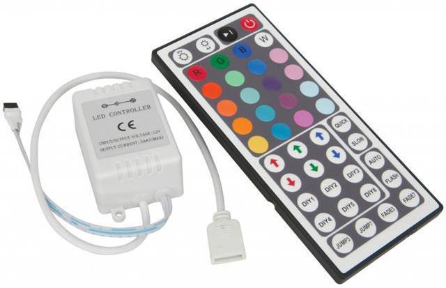 Bedienung RGB LED Streifen mit IR-Fernbedienung 44 tasten