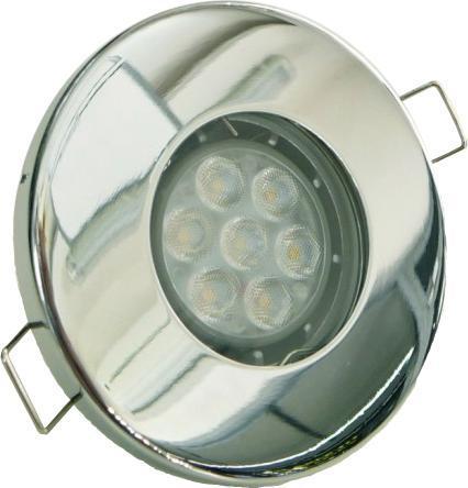 Chrom eingebaute decken LED Lampe 7W Kaltweiß IP44 230V