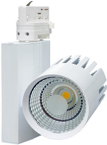 Weisser 3 Phasen Schiene LED Strahler 20W Tageslicht