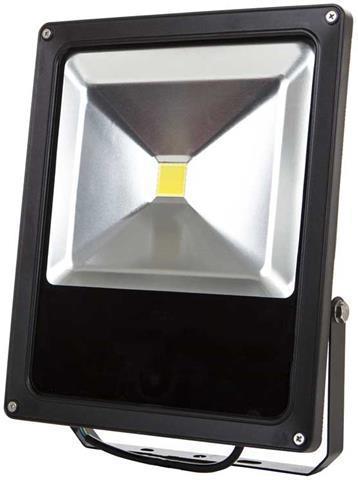 Schwarzer LED Strahler Daisy 50W Kaltweiß