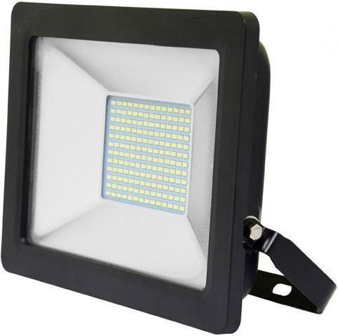 Schwarzer LED Strahler 50W city 5000K Tageslicht