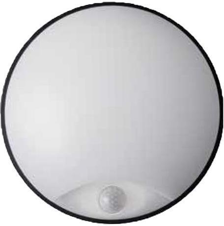 Schwarzes LED außen Wand Lampe 14W mit Sensor DITA Tageslicht