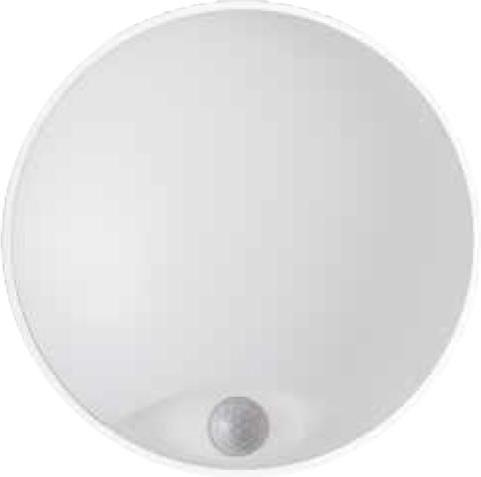 Weisses LED außen Wand Lampe 14W mit Sensor DITA Tageslicht