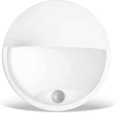 Weisses LED außen Wand Lampe 14W mit Sensor DITA cover Tageslicht