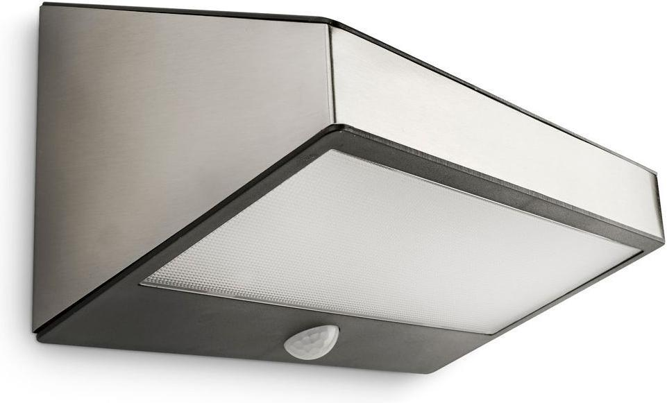 Philips LED greenhouse Lampe außen solar senzor edelstahl 1W selv 17811/47/16