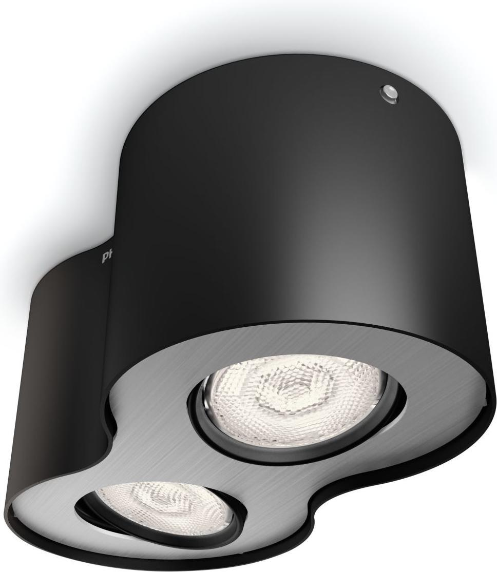 Philips LED Phase Einbauspot schwarz 2x4,5W selv 53302/30/16