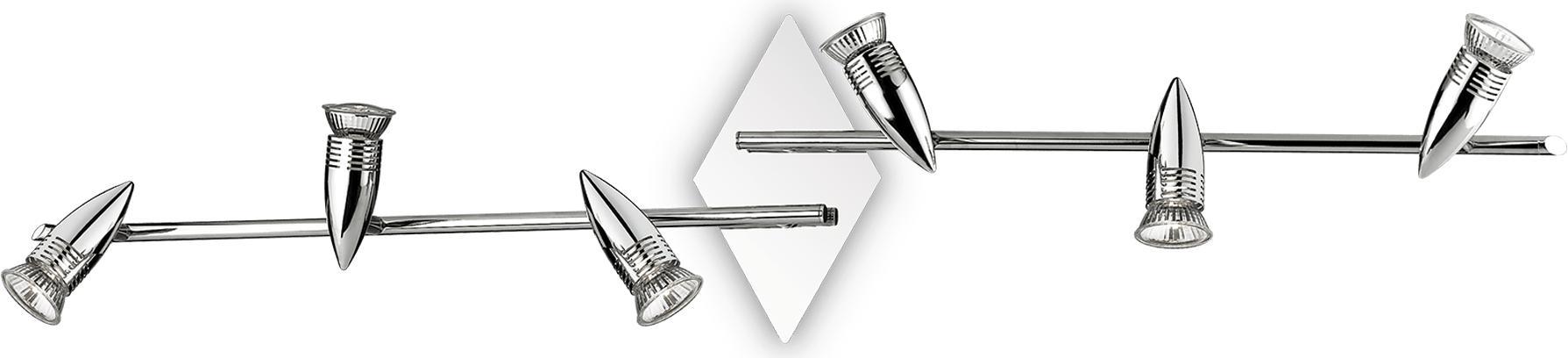 Ideal lux LED Alfa Cromo haengende Lampe 6x5W 89591