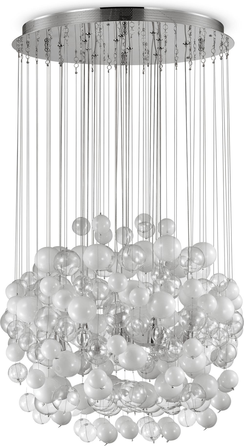 Ideal lux LED Bollicine 4 bianco haengende Lampe 4x4,5W 87924