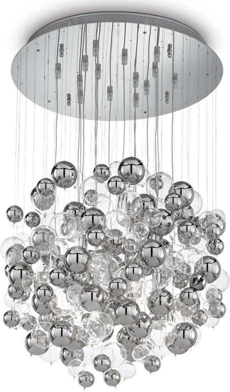 Ideal lux LED Bollicine 4 Cromo haengende Lampe 4x4,5W 93024
