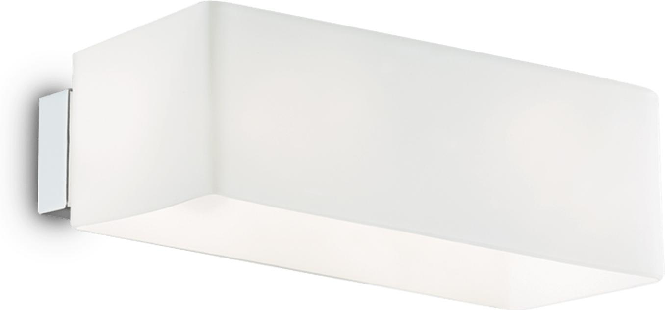 Ideal lux LED Box bianco Wand Lampe 2x4,5W 9537