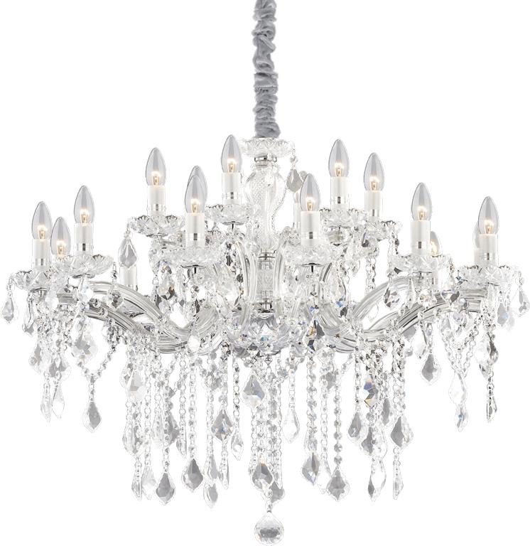 Ideal lux LED Florian Cromo Kronleuchter 8x5W 75150