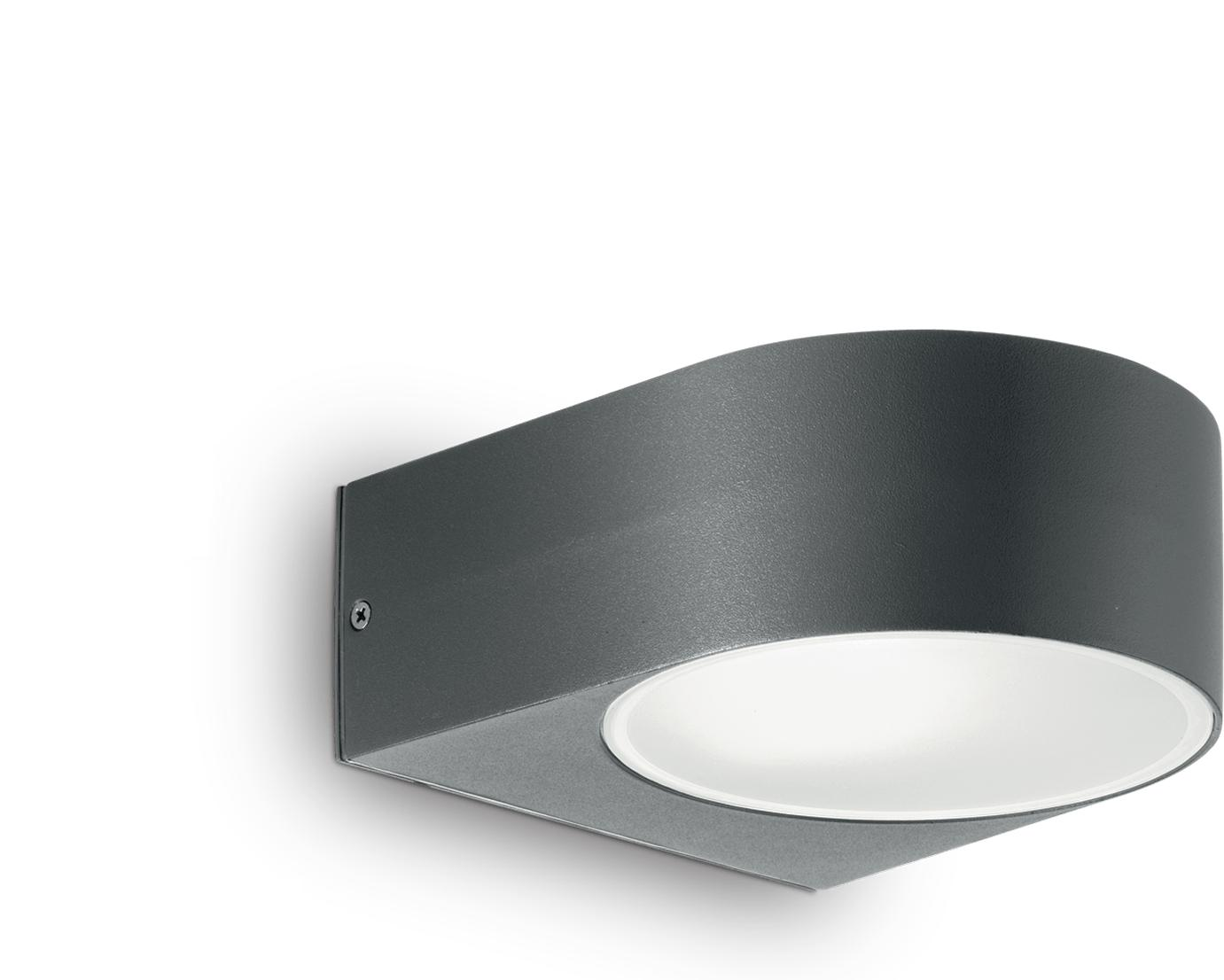 Ideal lux LED Iko anthrazite Wand Lampe 5W 18515