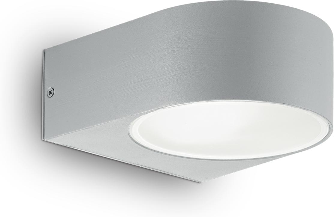 Ideal lux LED Iko grigio Wand Lampe 5W 92218