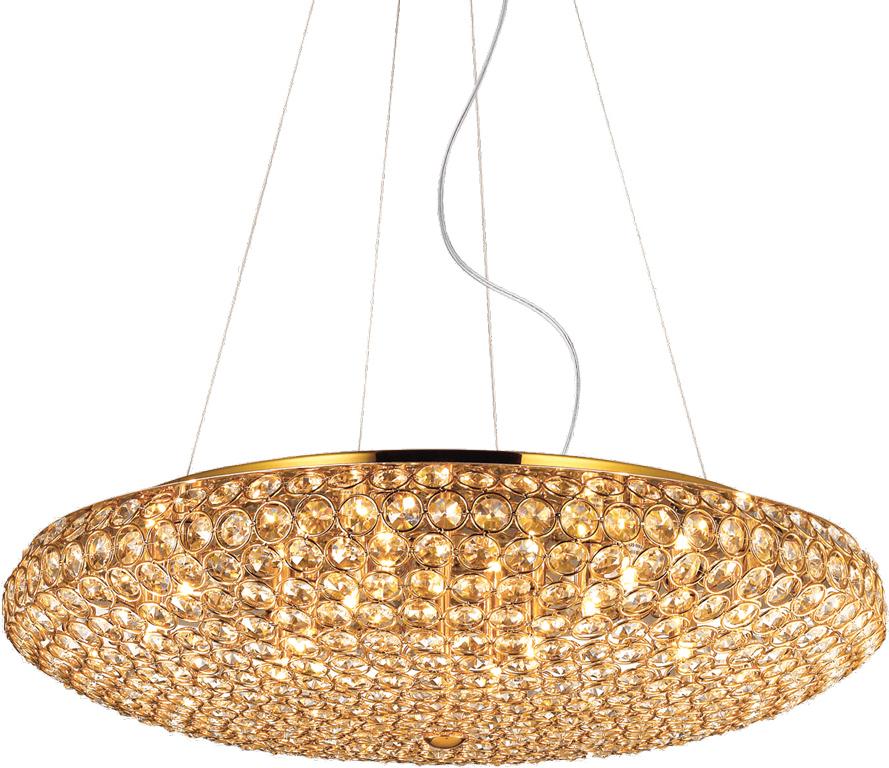 Ideal lux LED King Oro haengende Lampe 2x4,5W 88020