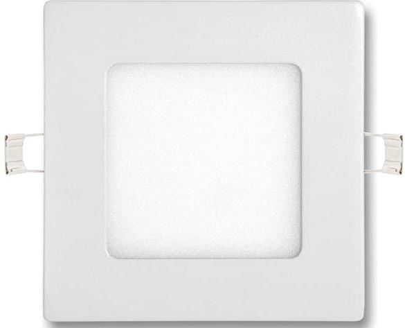 Weisser eingebauter LED Panel 120 x 120mm 6W Tageslicht