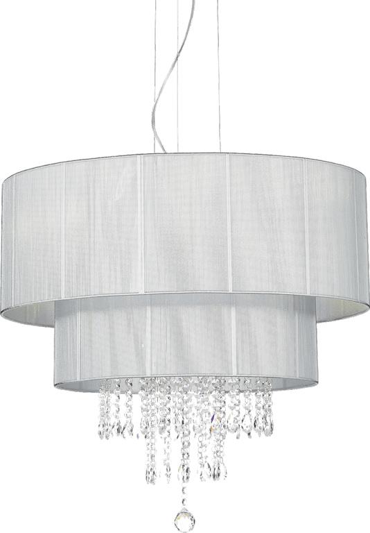 Ideal lux LED Opera argento Kronleuchter 6x5W 122601