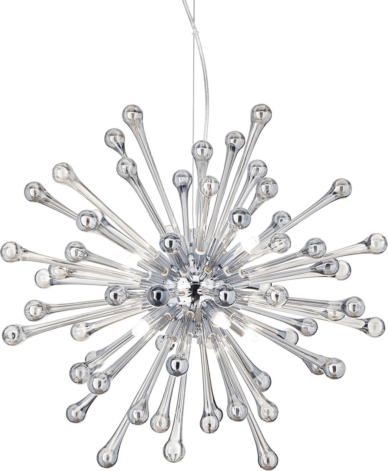 Ideal lux LED Pauline fume haengende Lampe 8x4,5W 115801