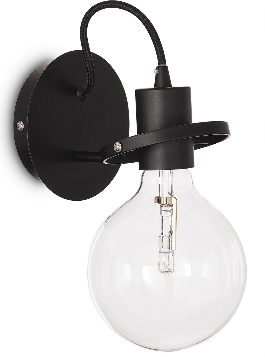 Ideal lux LED Radio nero Wand Lampe 5W 119502