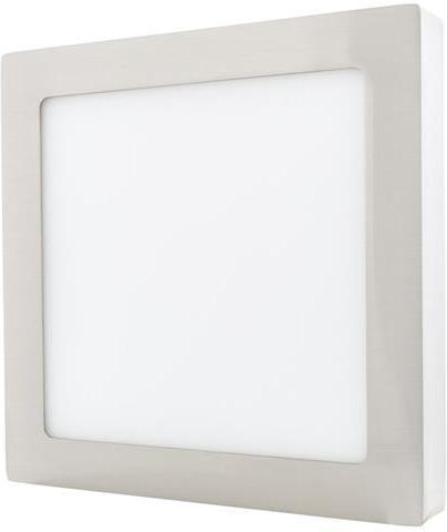 Chrom angebauter LED Panel 175 x 175mm 12W Warmweiß