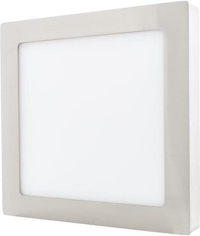 Chrom angebauter LED Panel 225 x 225mm 18W Warmweiß