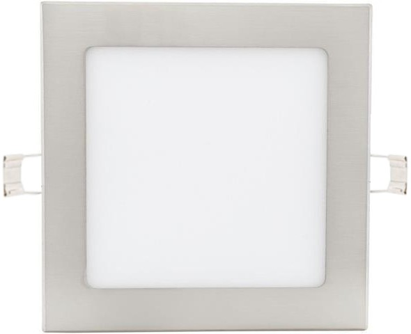 Chrom eingebauter LED Panel 175 x 175mm 12W Warmweiß