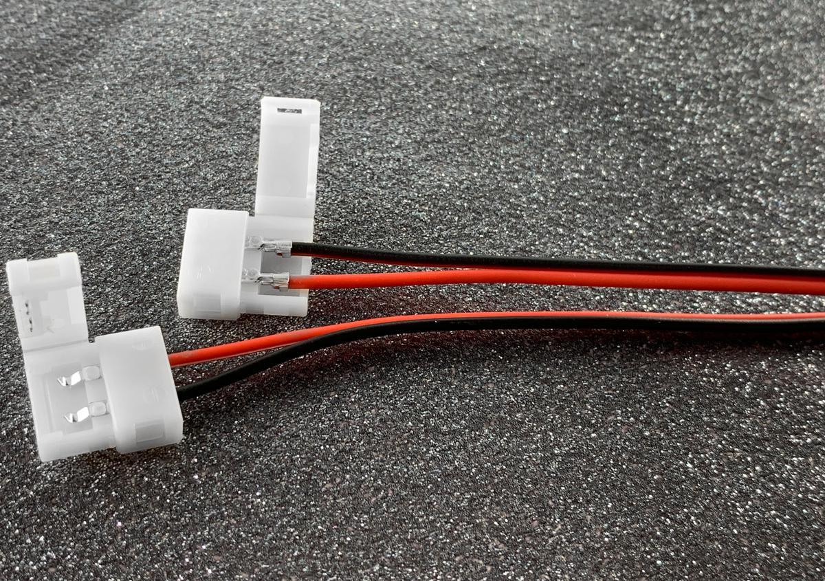 Konektor + Kabel + konektor LED Streifen 8mm
