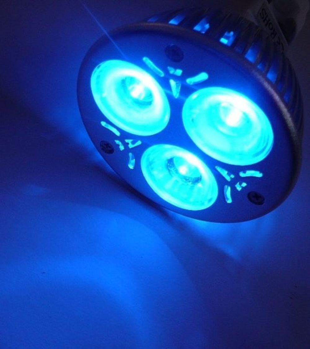Farbige LED Lampe GU10 blau